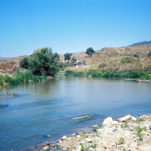 closeup of the Litani River