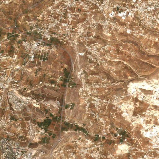 satellite view of the region around Khirbet el Udeise