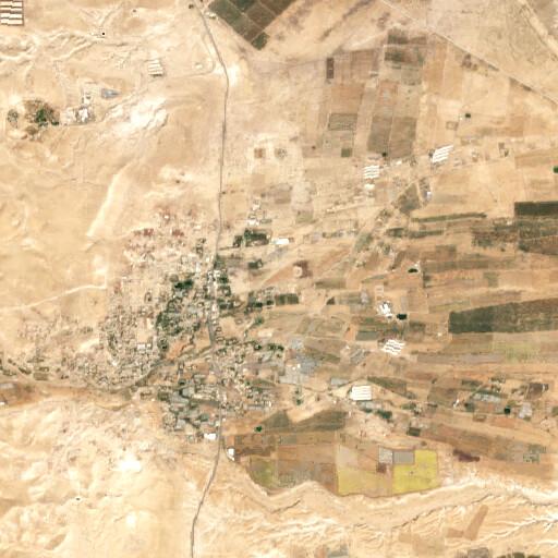 satellite view of the region around Khirbet el Ayash