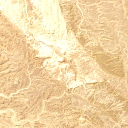 satellite view of the region around Jebel Sin Bishar