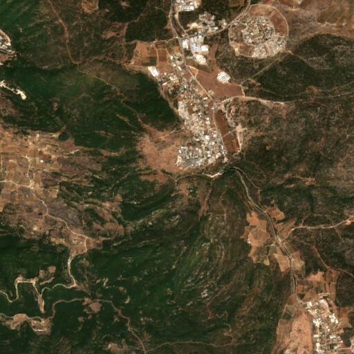 satellite view of the region around En Meron