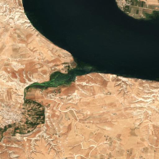 satellite view of the region around Tell Aushariye