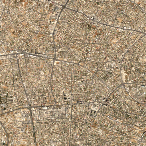satellite view of the region around Khirbet Udena