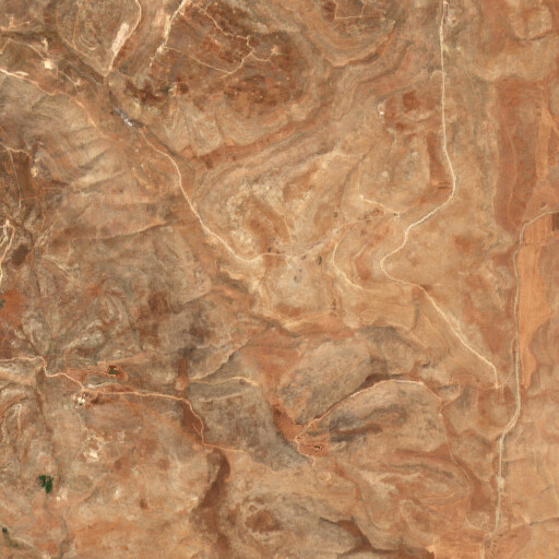 satellite view of the region around Khirbet Tana et Tahta