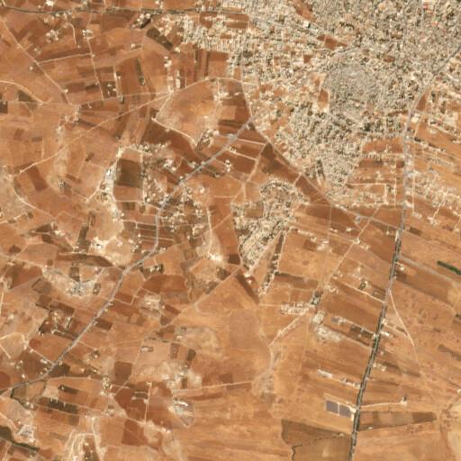 satellite view of the region around Khirbet et Teim