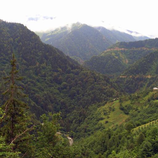 panorama of a mountain in Pontus