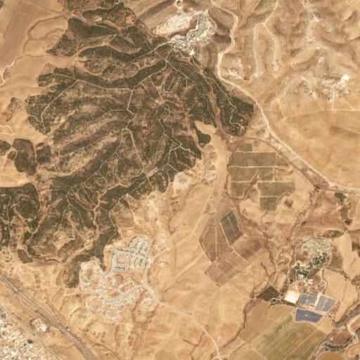 satellite view of the region around Khirbet esh Shamsaniyat