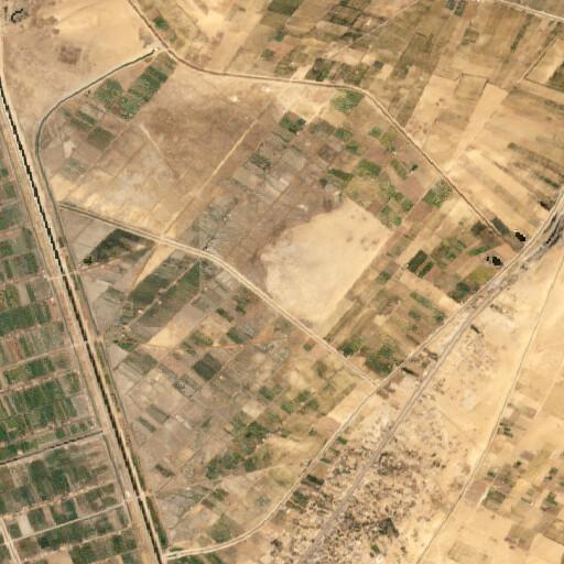 satellite view of the region around Tell el Herr