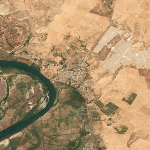 satellite view of the region around Qaryat as Salamiyah