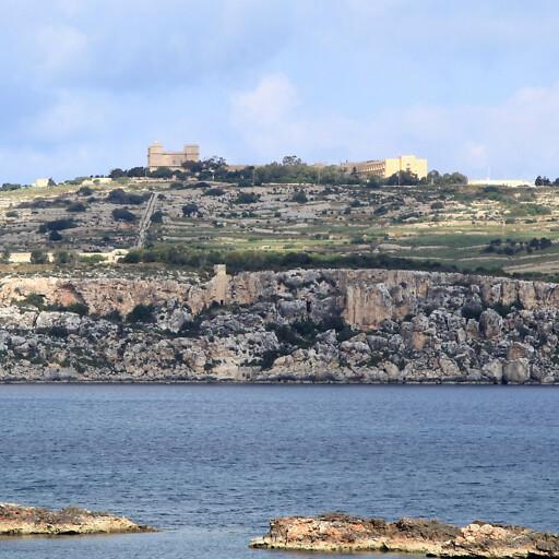 panorama of Saint Paul's Bay at Malta