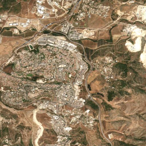 satellite view of the region around Khirbet Wadi Illin