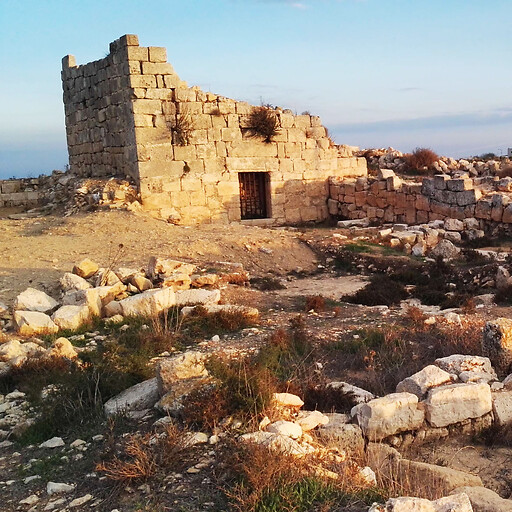 panorama of ruins at Burj Beitin