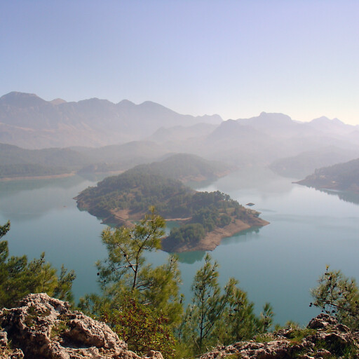 panorama of a natural area in Asia Minor