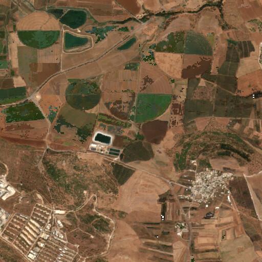 satellite view of the region around Khirbet es Safsafa