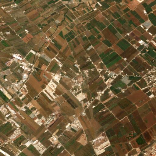 satellite view of the region around Tell Dalhamiya
