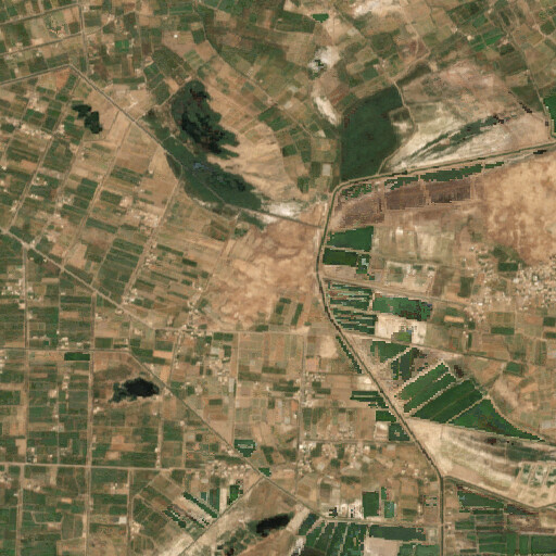 satellite view of the region around Tell Ishnayt