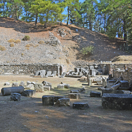 panorama of the ancient theater at Mitylene
