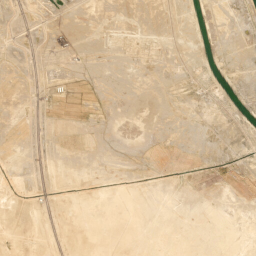 satellite view of the region around Tall al Lahm