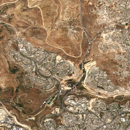 satellite view of the region around Khirbet Tililiya