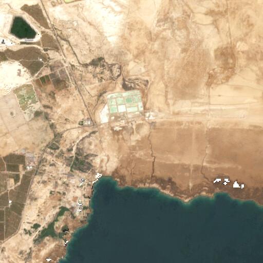 satellite view of the region around Rujm el Bahr