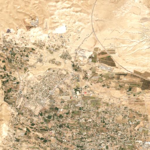 satellite view of the region around Suwwanet eth Thaniya