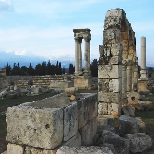 ruins at Anjar