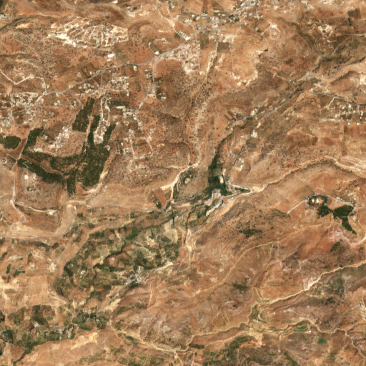 satellite view of the region around Tell el Areme