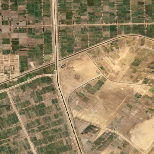 satellite view of the region around Tell Qedua
