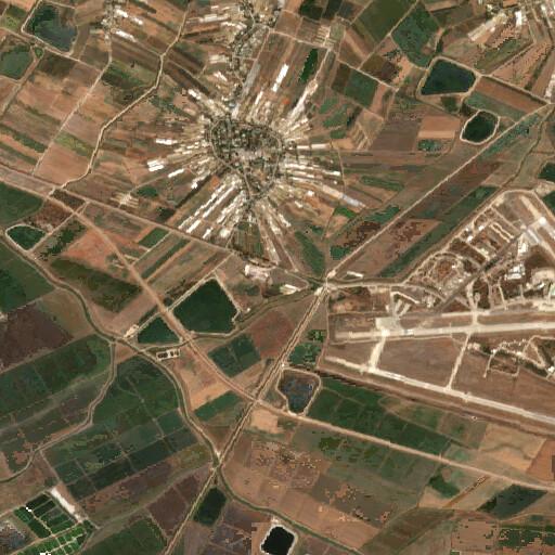 satellite view of the region around Tel Shem