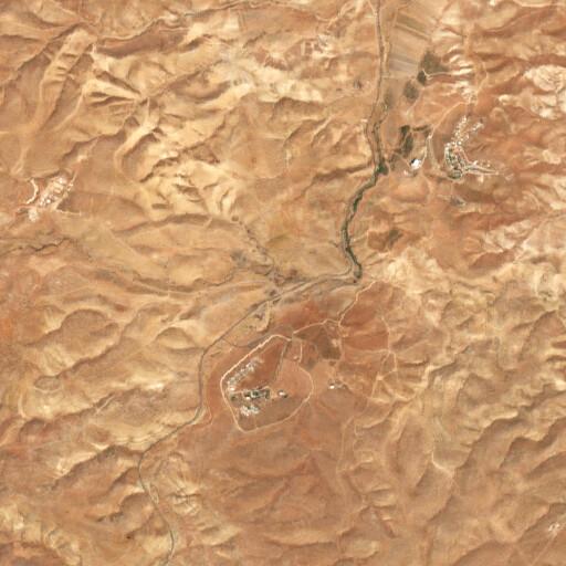 satellite view of the region around Tell el Hilu