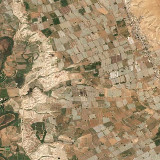 satellite view of the region around Khirbet Buweib