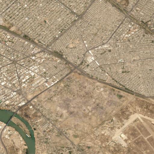satellite view of the region around Tell Muhammad