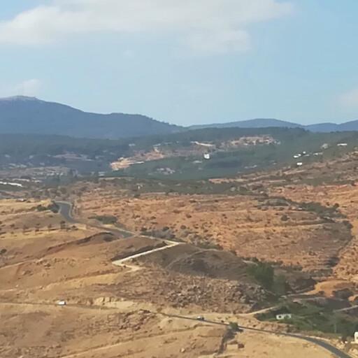 panorama of hills in the Transjordan