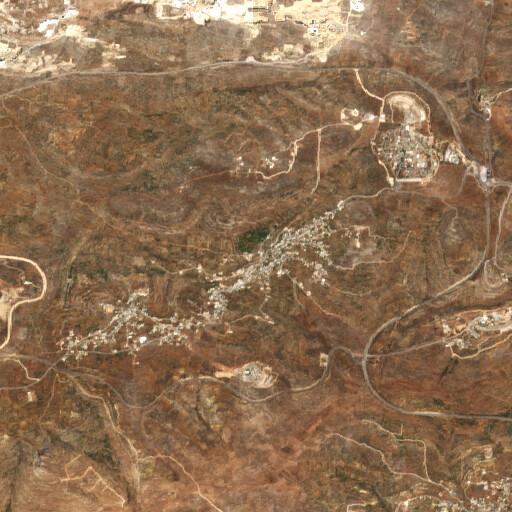 satellite view of the region around Ein et Tuta