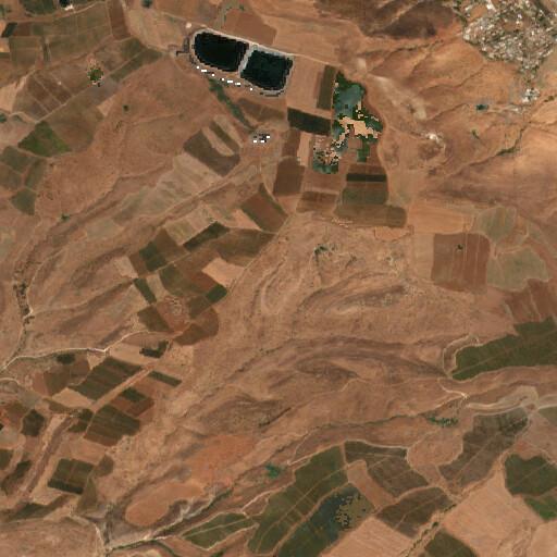 satellite view of the region around Hadita