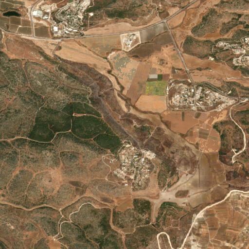 satellite view of the region around Khirbet Beit Fasal