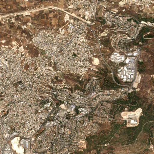 satellite view of the region around Ain Qana