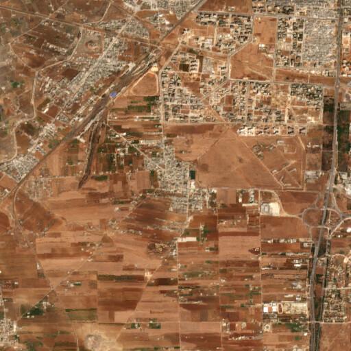 satellite view of the region around Kafr Aya