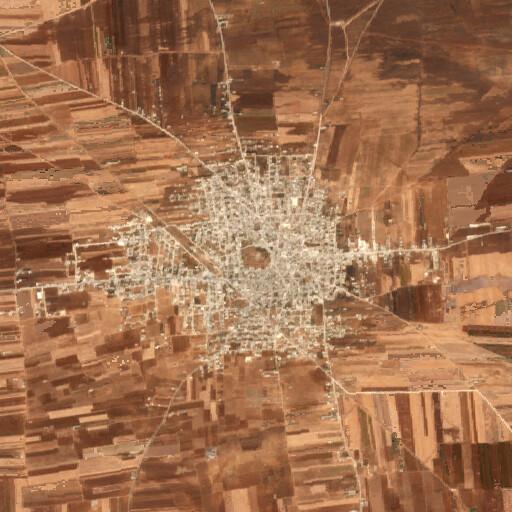 satellite view of the region around Tell Rifat
