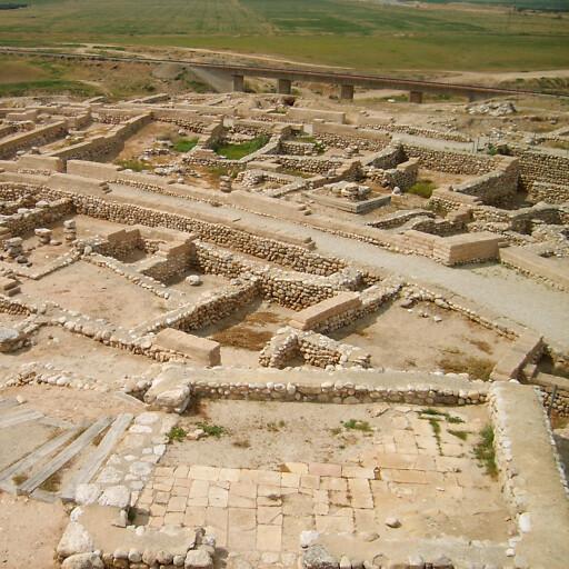panorama of ruins at Tel Beer Sheva
