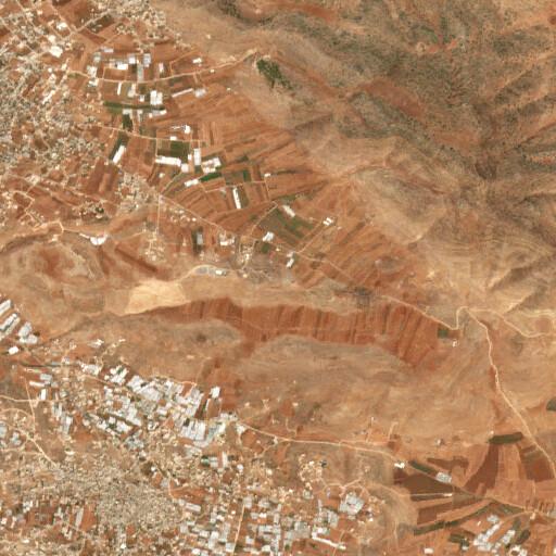 satellite view of the region around Khirbet Einun