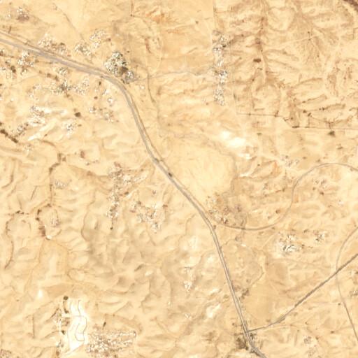 satellite view of the region around Tel Esdar