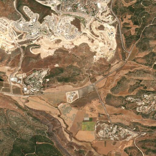 satellite view of the region around Khirbet Judraya