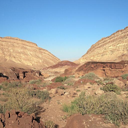 cliffs of HaMakhtesh HaKatan in the Zin Desert