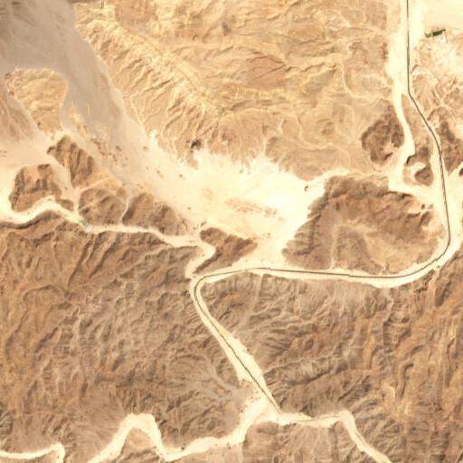 satellite view of the region around Bir es Sawra
