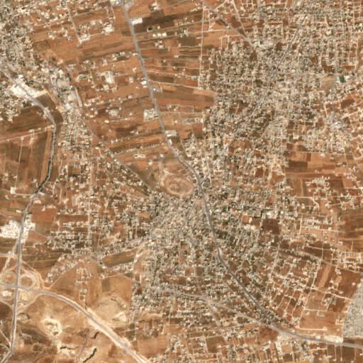 satellite view of the region around Tall al Husun