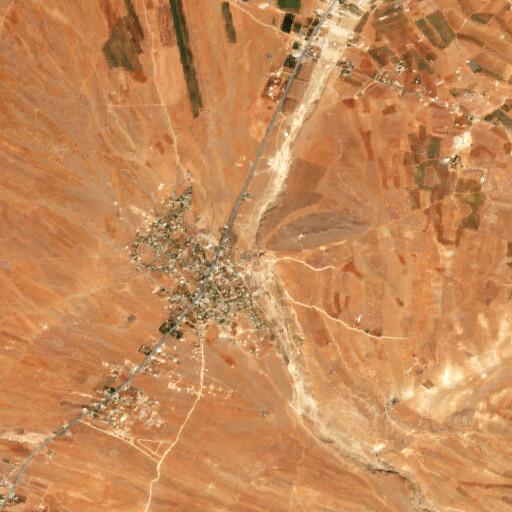 satellite view of the region around Tell Maqne