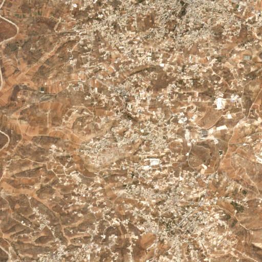 satellite view of the region around Khirbet el Qom