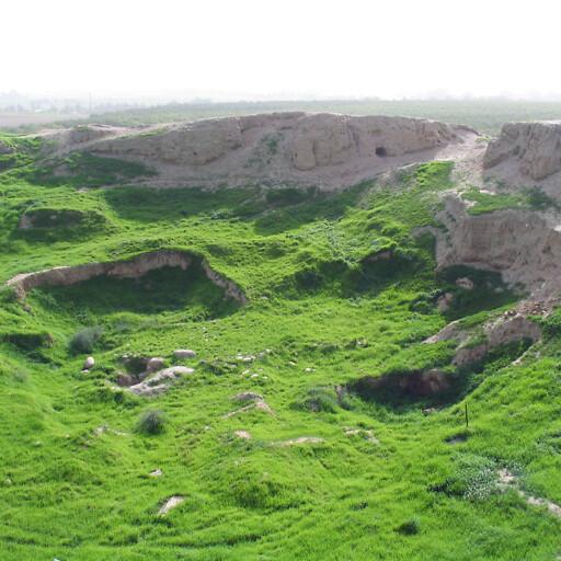 panorama of ruins at Tell Jemmeh