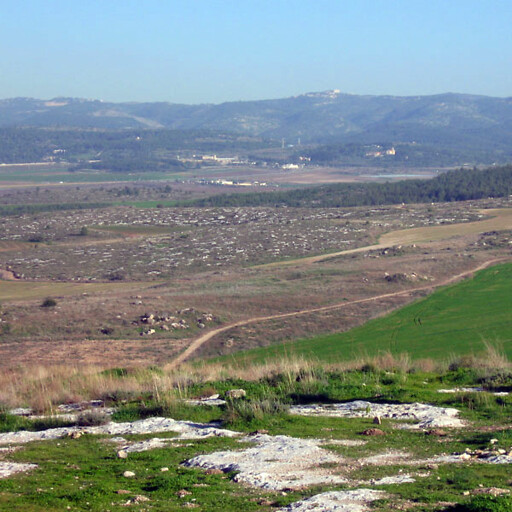 panorama of the Ayalon Valley